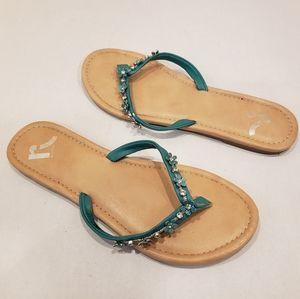 🍓 3/$20 Report Turquoise Flip Flops + Bonus Pair